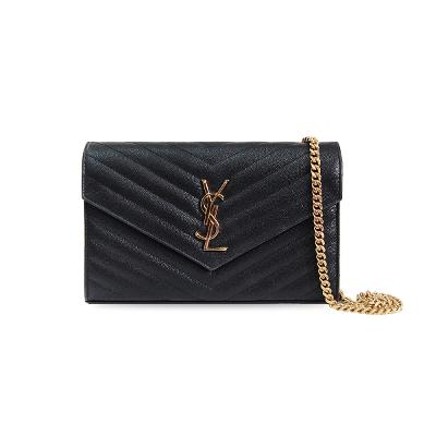chevron quilting cross bag black